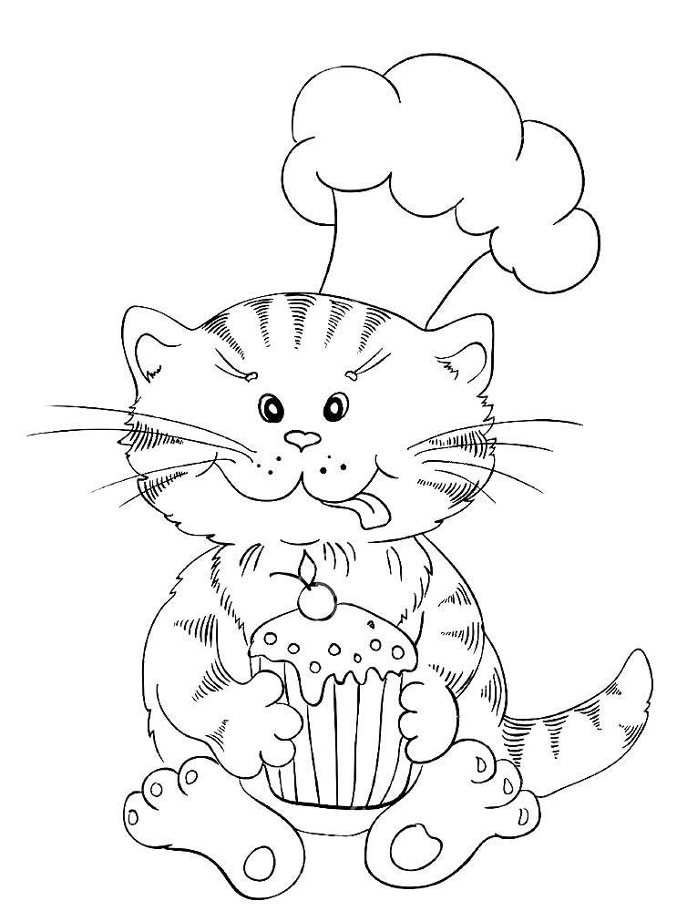 Раскраски Кекс. Лучшие картинки сладостей здесь