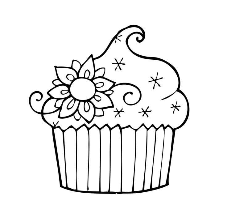 einhorn cupcakes ausmalbilder  coloring and drawing