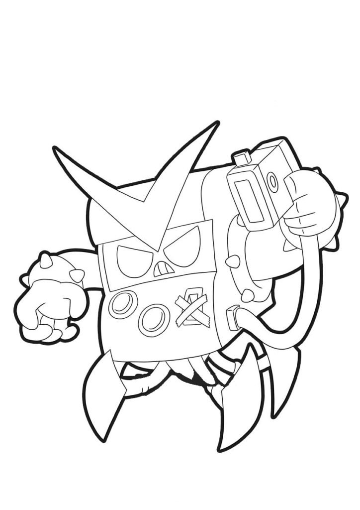 Coloring pages Brawl Stars. Print 130 New Images
