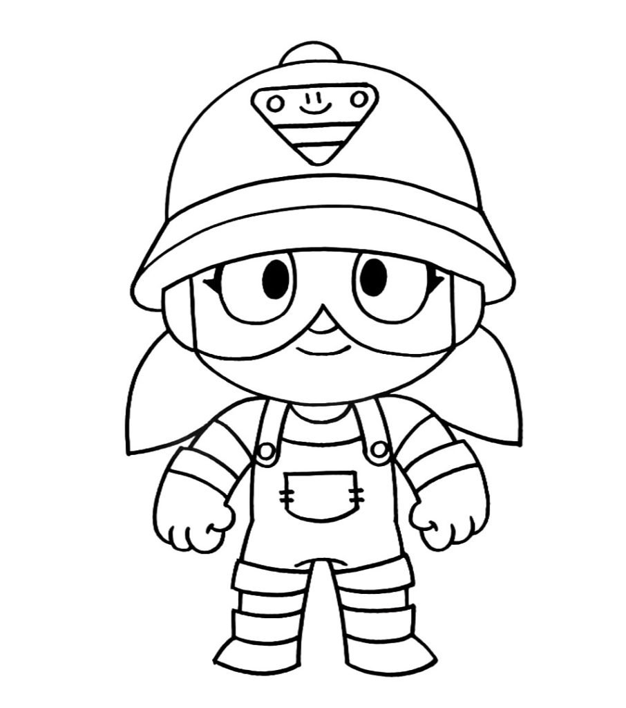 Coloring Pages Jacky Brawl Stars. Print for free
