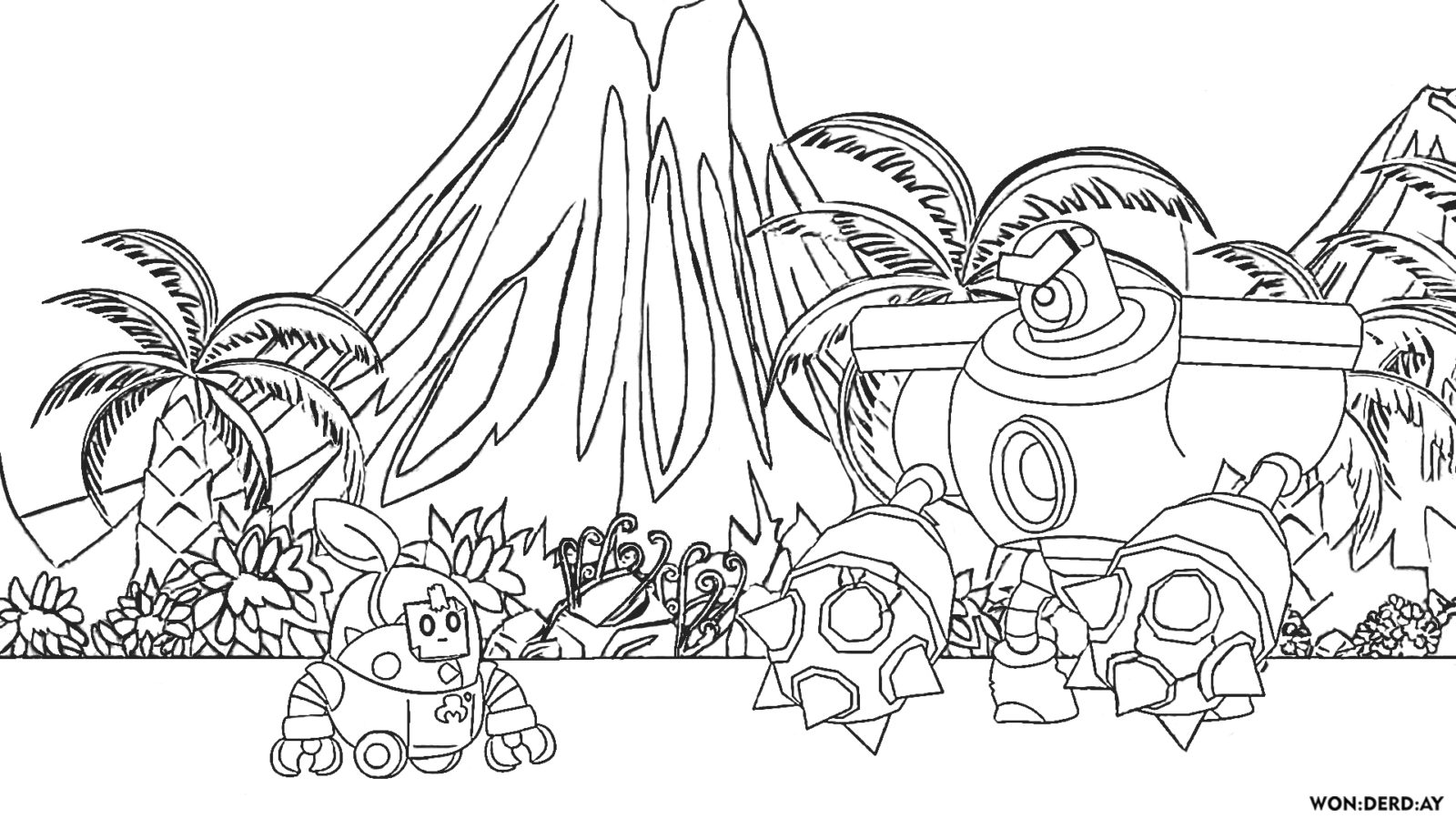 Coloring Pages Sprout Brawl Stars Print Exclusive Images