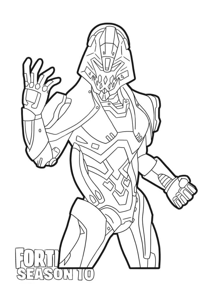 Ice King Fortnite coloring page | Free Printable Coloring Pages | 1024x724