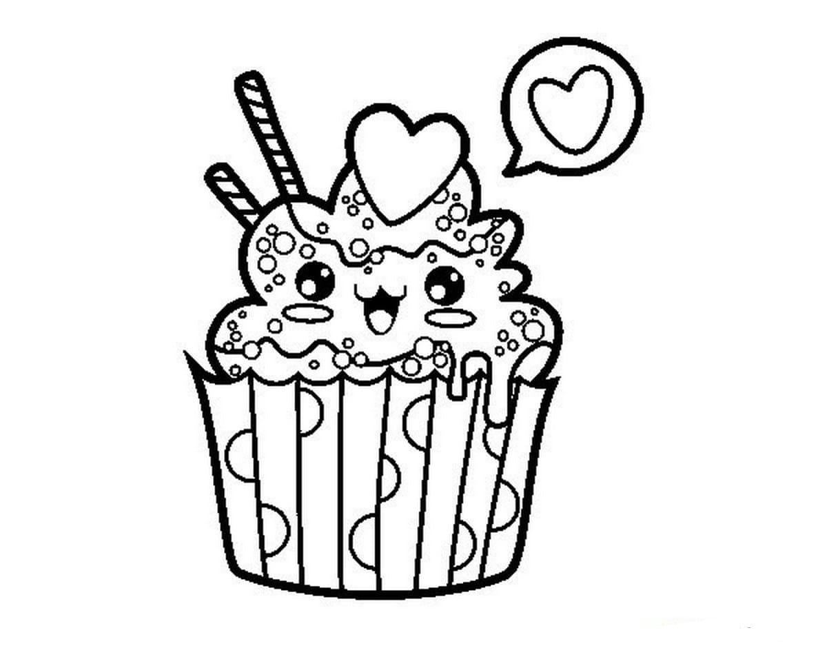 Ausmalbilder Cupcake. Die besten Bilder von Süßigkeiten hier