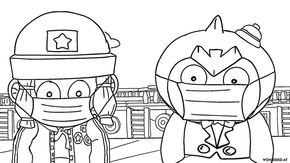 Coloring Pages Mr P Brawl Stars Print For Free Wonder Day