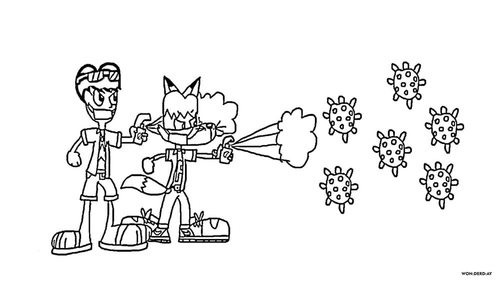 Coloring Pages Coronavirus for Kids. Free Print in A4 format