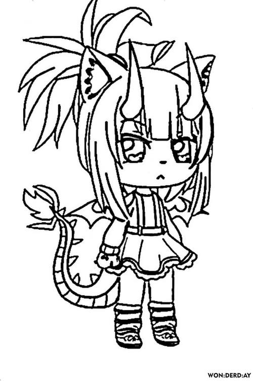 Coloring Pages Gacha Life. Print For Free WONDER DAY — Coloring Pages For  Children And Adults