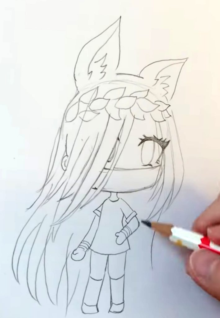 How to draw Gacha Life. Pencil Drawing, 20 lessons