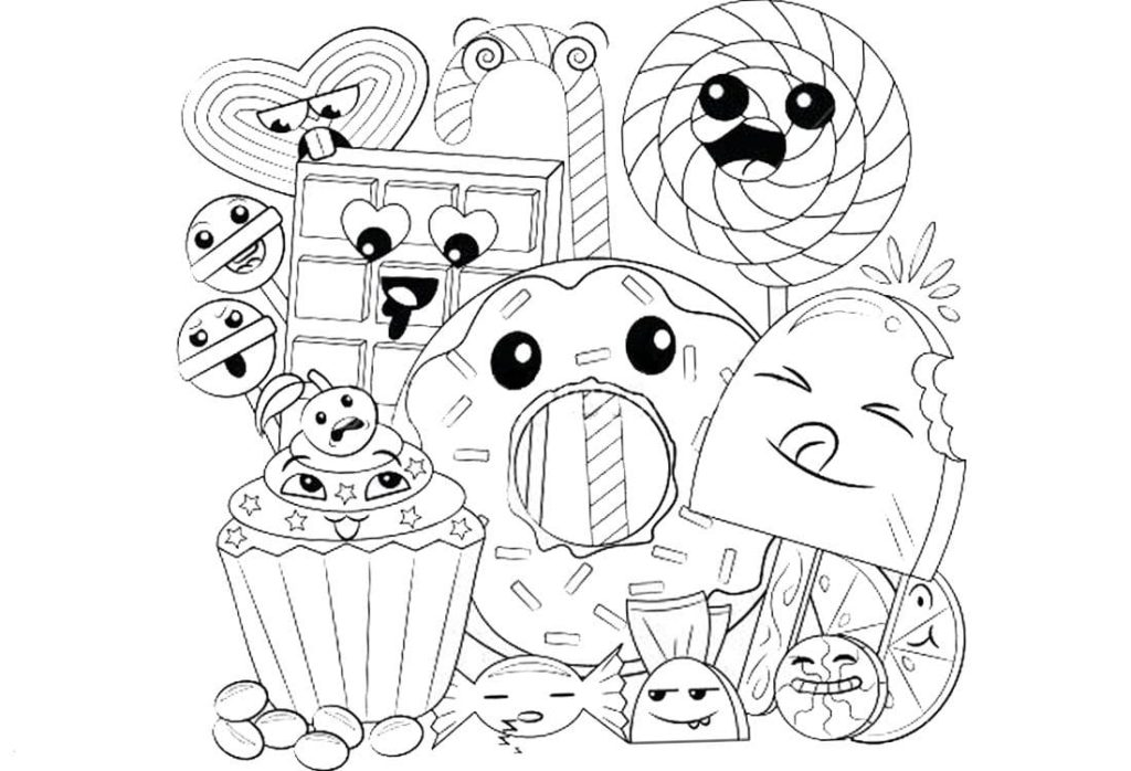 120 Kawaii Coloring Pages. The Best Collection. Print For Free