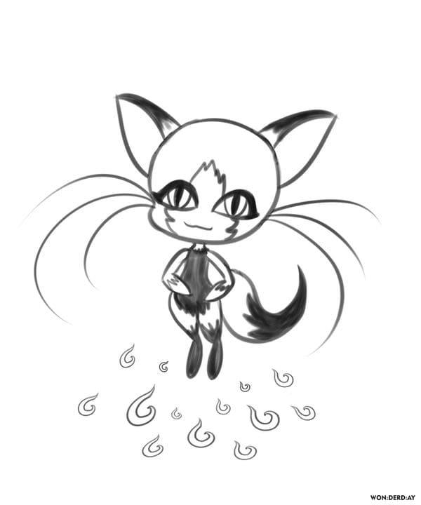 Coloriage Kwami. Miraculous Ladybug et Chat Noir. Imprimer ...