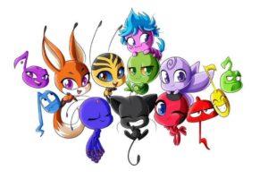 Раскраски всех Квами из мультсериала Леди Баг и Супер Кот