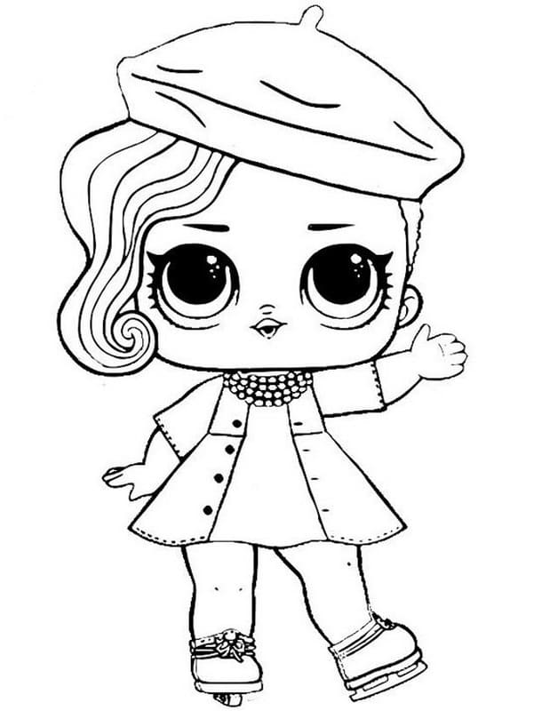 LOL Surprise Dolls Coloring Pages. Print in A4 format