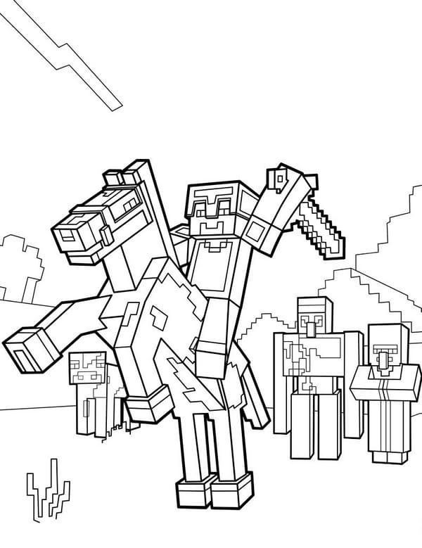 90 Minecraft Coloring Pages The Best Collection Print Free