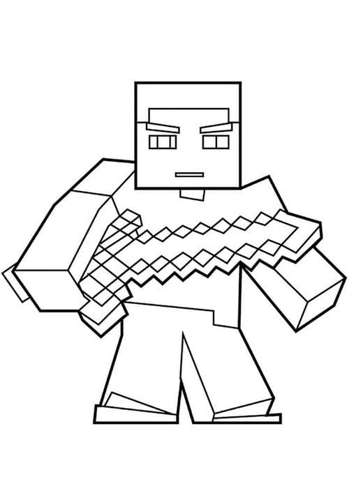 100 Minecraft Coloring Pages. Print Or Download WONDER DAY