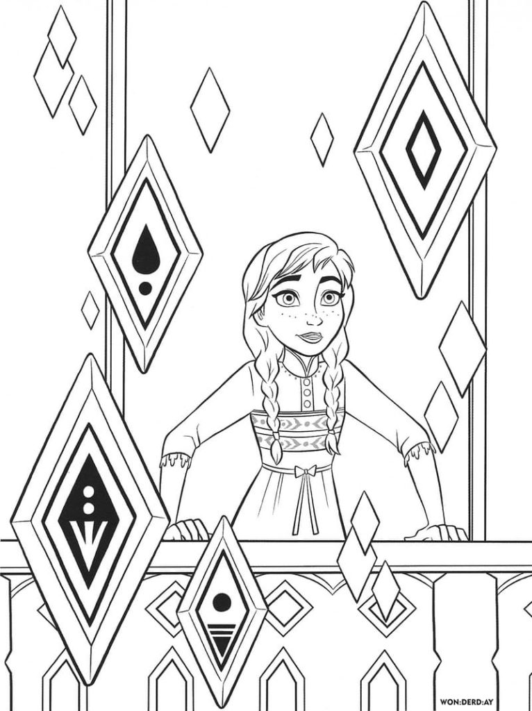 100 Best Frozen 2 Coloring Pages. Print for free | WONDER DAY