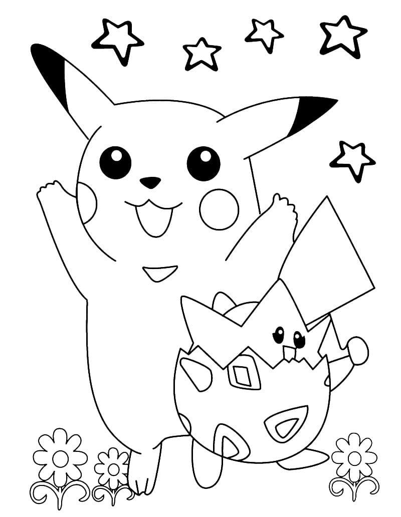 Coloriage Pikachu. Imprimez gratuitement au format A4