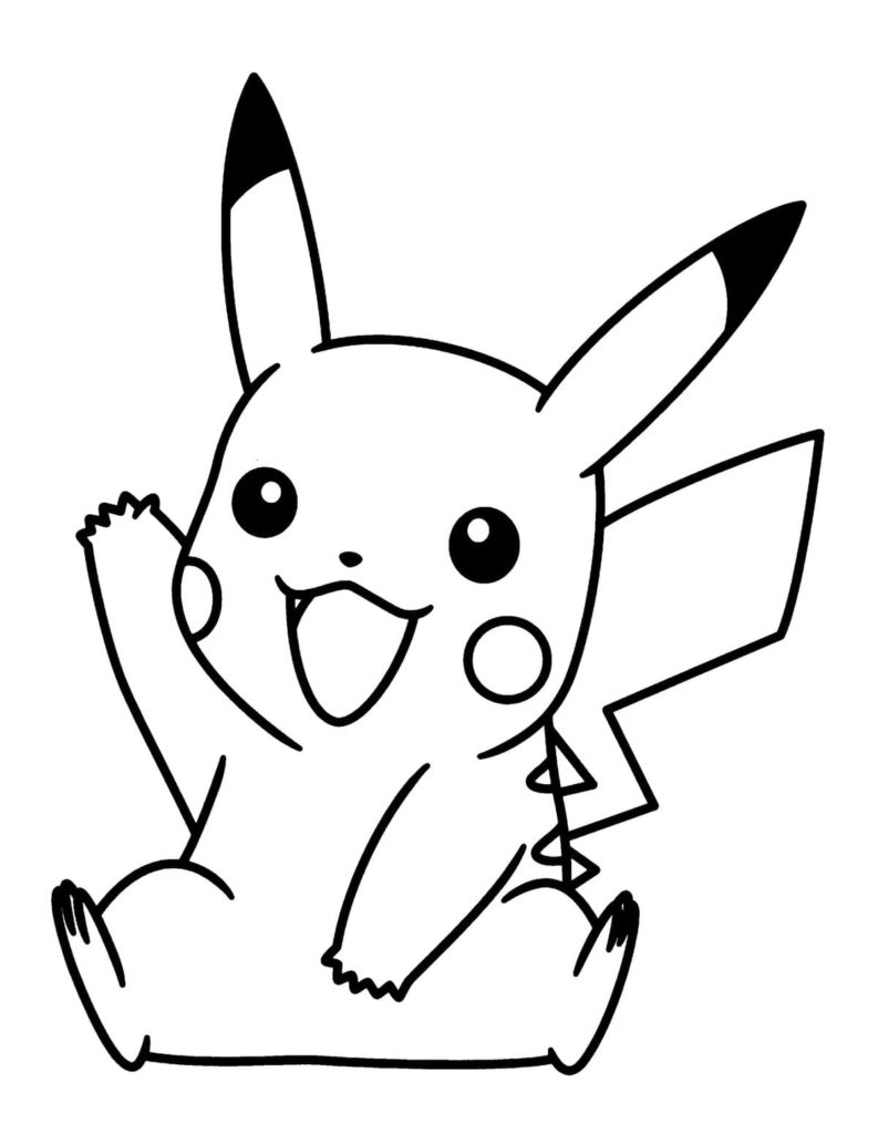 Pikachu Coloring Pages Print For Free In A4 Format