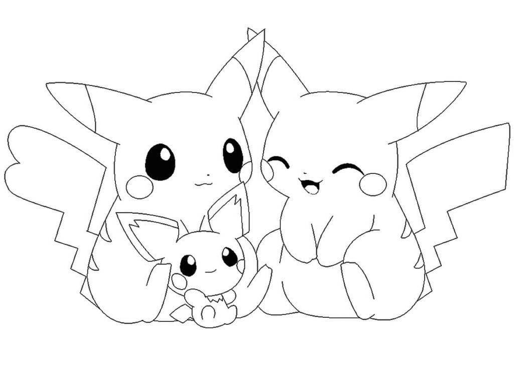 ausmalbilder pikachu kostenlos im a4 format drucken