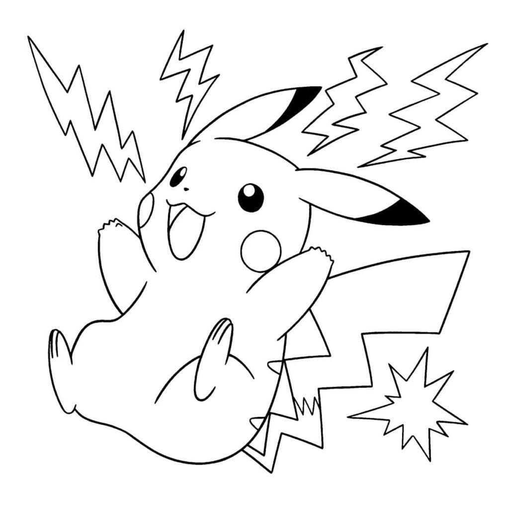 Ausmalbilder Pikachu. Kostenlos im A21 Format drucken