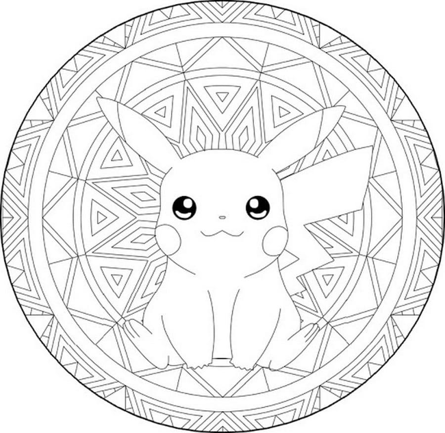 Ausmalbilder Pikachu. Kostenlos im A22 Format drucken