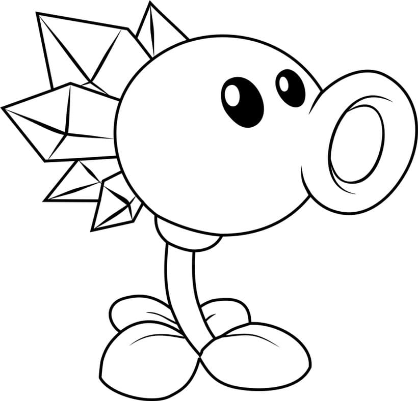 Plants Vs Zombies Coloring Pages. All Parts: 1, 2, 3