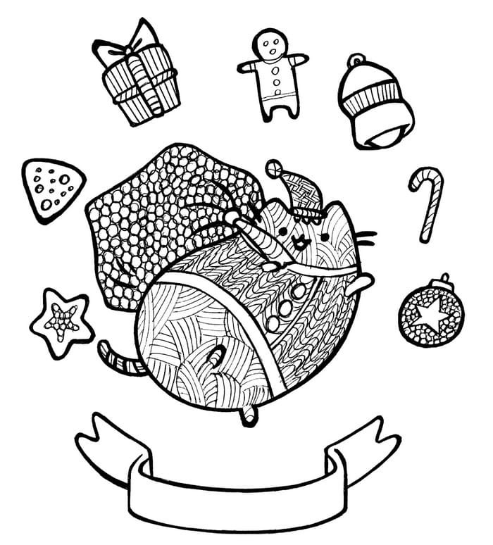 Pusheen Coloring Pages. 70 pieces, print for free