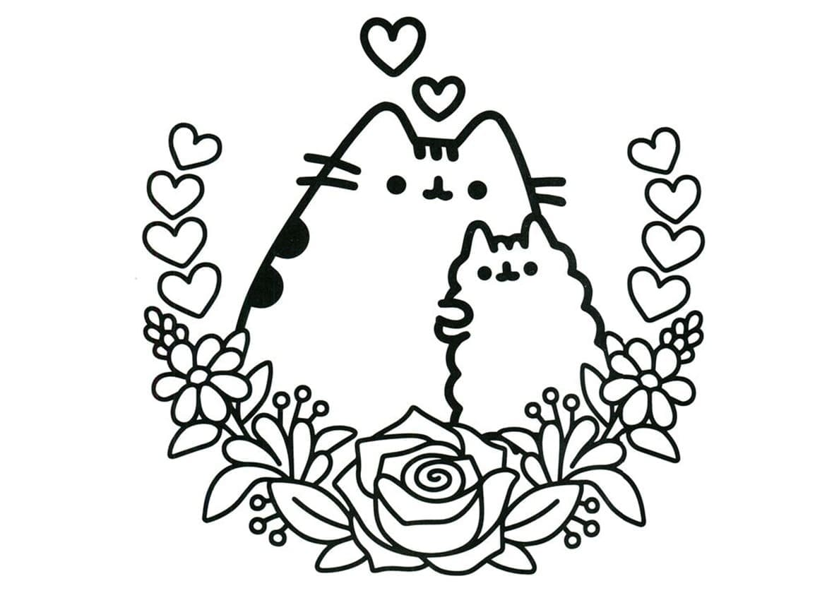 - Pusheen Coloring Pages. 70 Pieces, Print For Free WONDER DAY