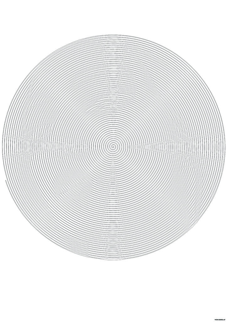 Dibujos para colorear Espiral un círculo Spiroglyphics ...