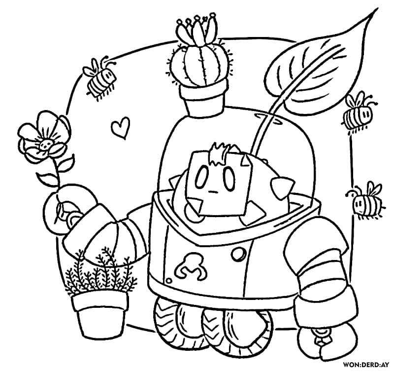 Coloring Pages Sprout Brawl Stars. Print Exclusive Images