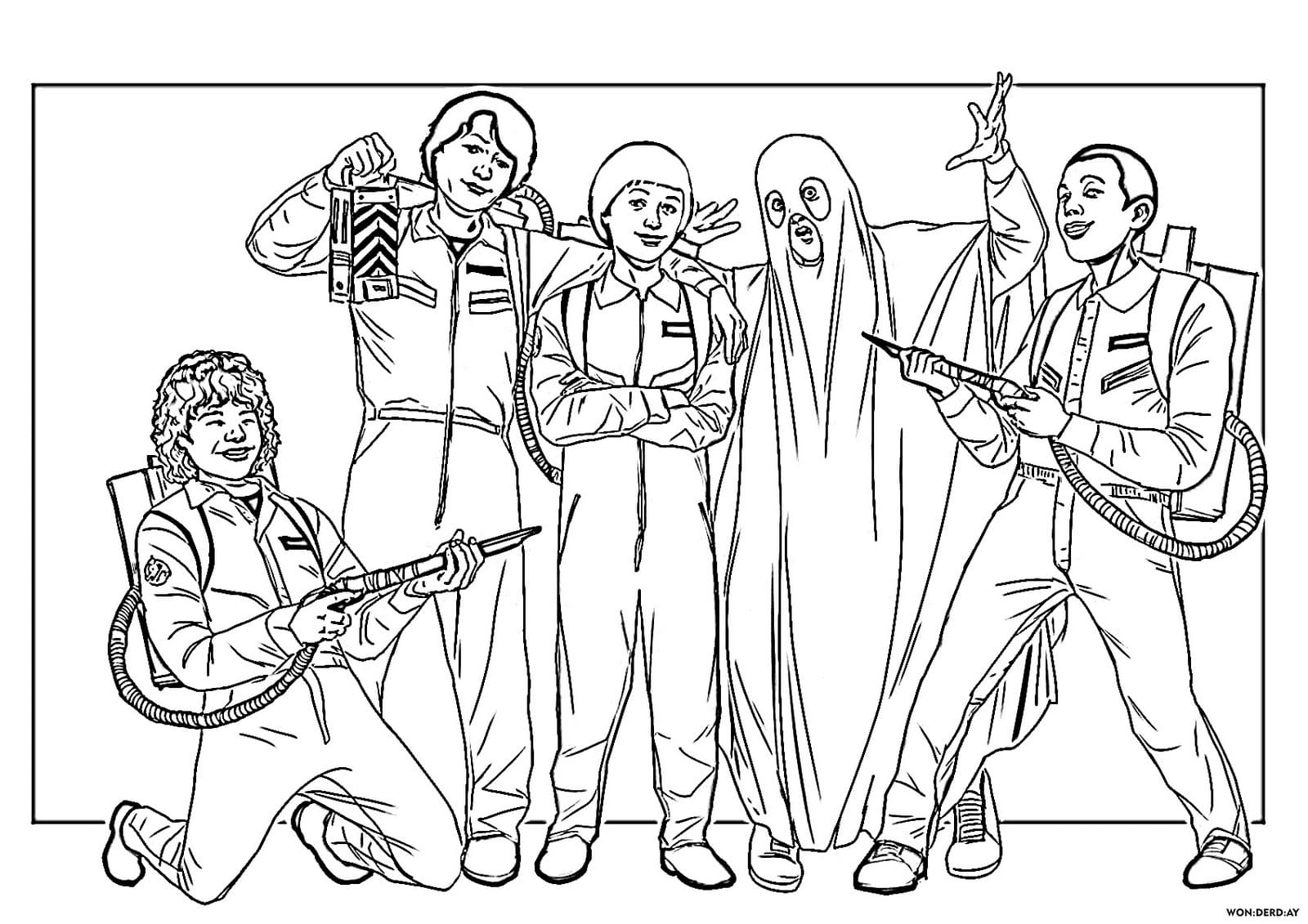Stranger Things Coloring Pages Top Collection Print For Free