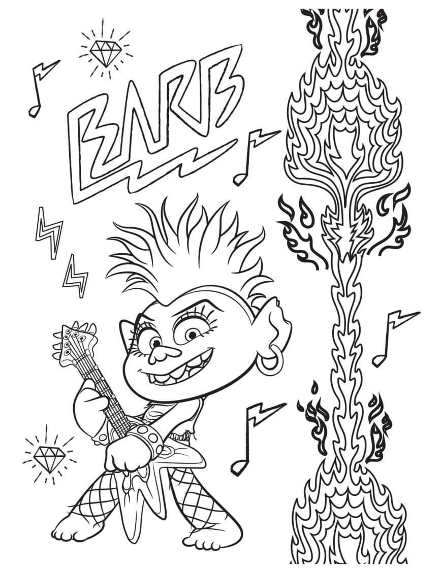 Coloring pages Trolls World Tour. Free Print all trolls