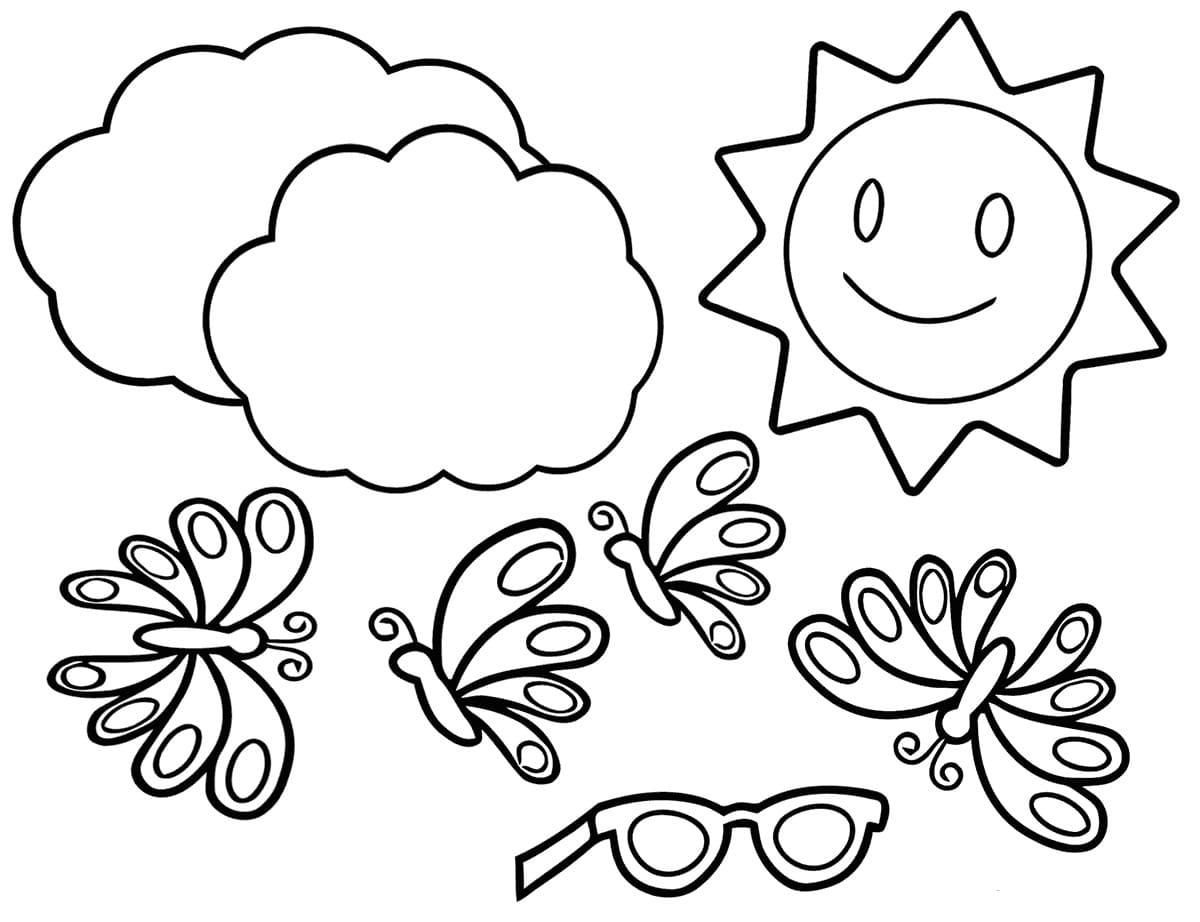 ausmalbilder sommer. 110 bilder zum thema sommer für kinder