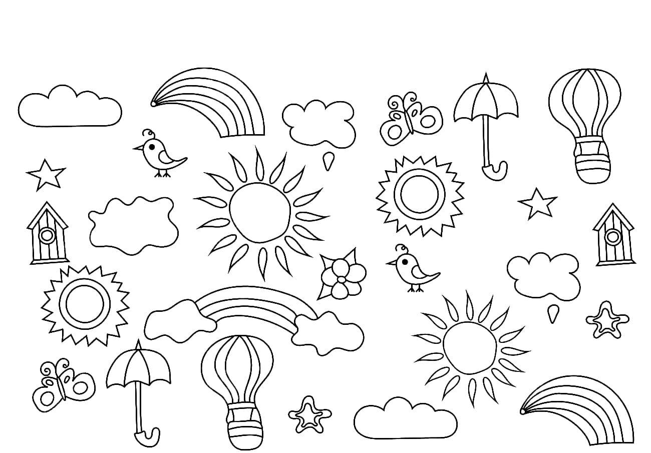 ausmalbilder sommer 110 bilder zum thema sommer für kinder