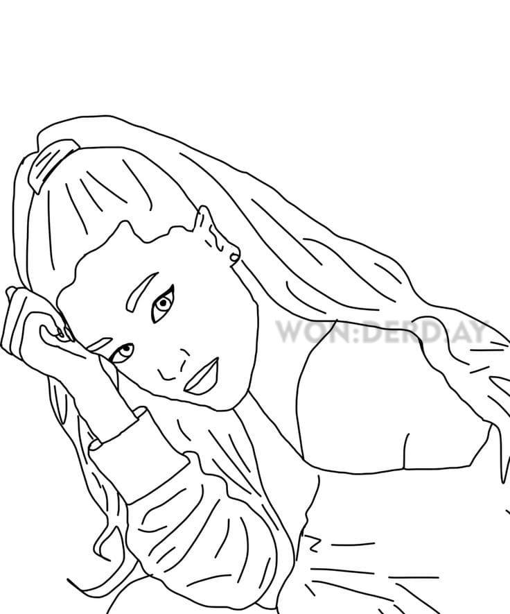 Coloriage Ariana Grande Telecharger Et Imprimer Gratuitement