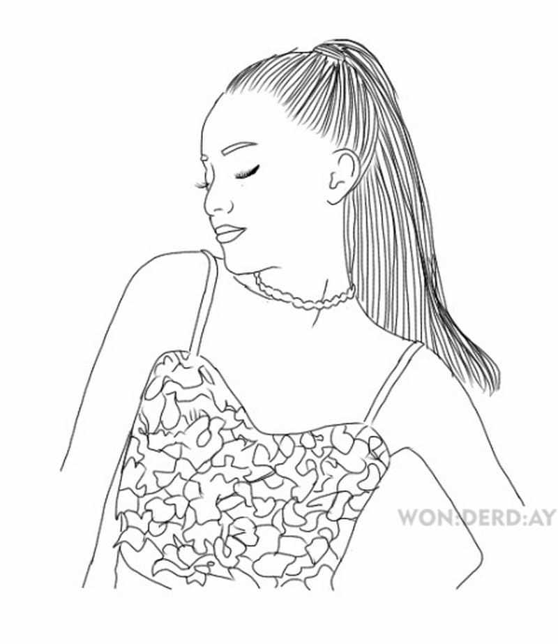 Coloring Pages Ariana Grande Download And Print For Free