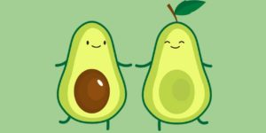 Avocado coloring pages. Real Avocado and Kawaii, Print for free
