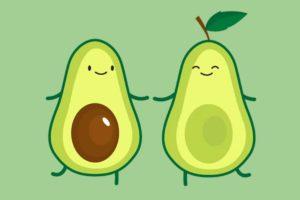 Desenhos de Abacate para colorir. Imprimir gratuitamente