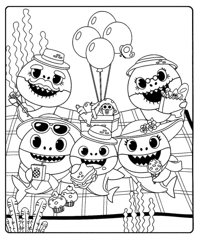 - Baby Shark And Pinkfong Coloring Pages. Print Free
