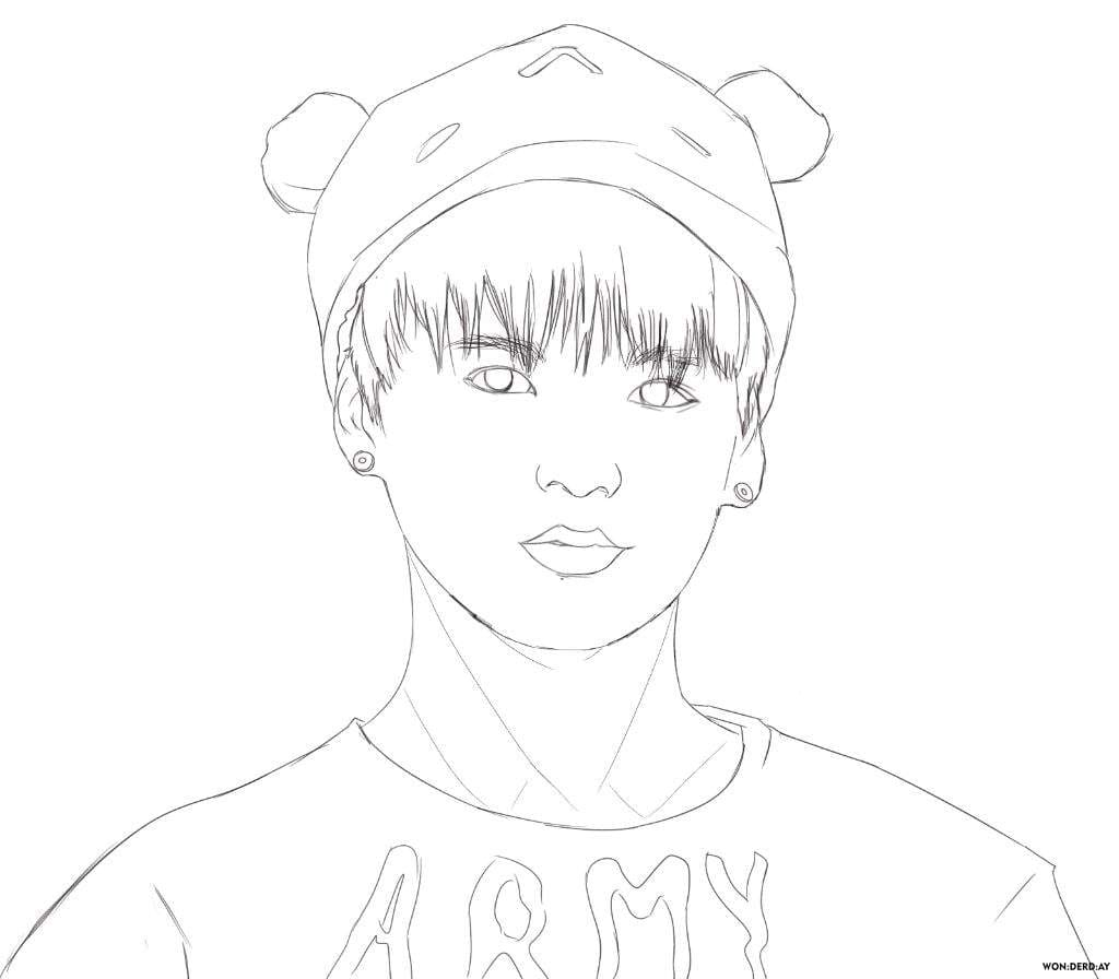 BTS Coloring Pages. Print for free 120 Unique Images