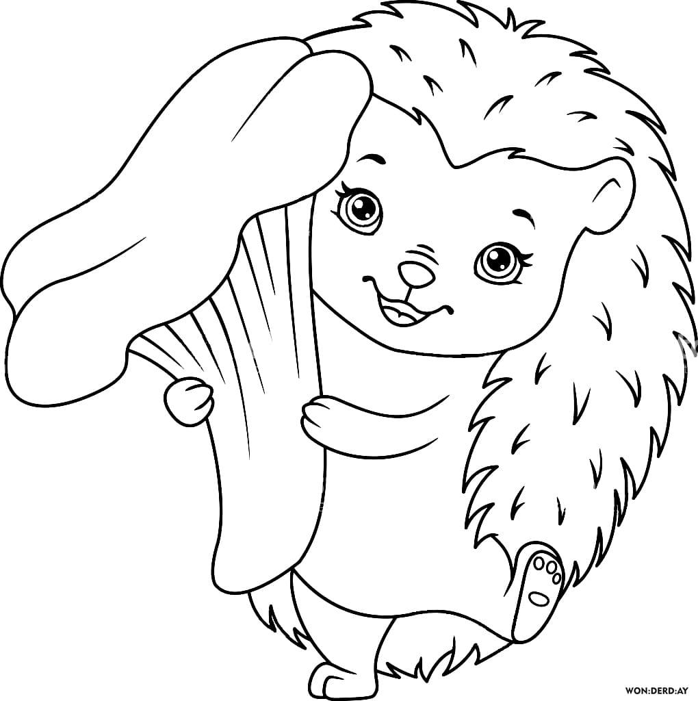 Ausmalbilder Igel für Kinder, 13 Stück. Drucken Sie A13