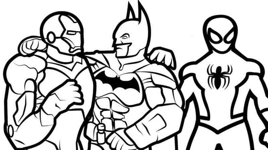 Coloring Pages Iron Man. Print Superhero Marvel for Free