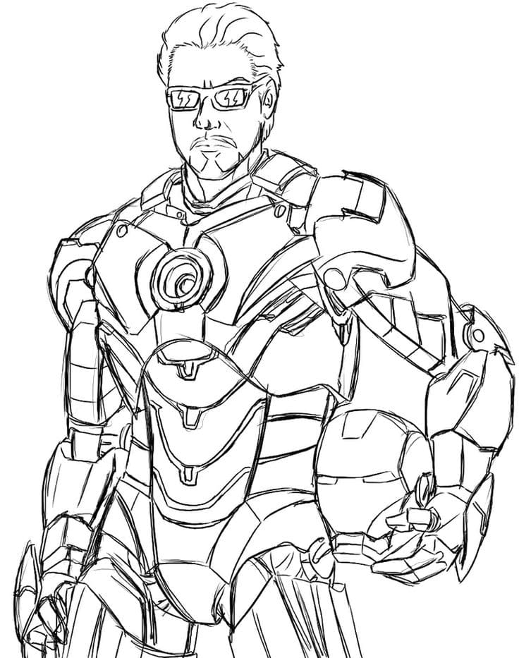 coloring pages iron man print superhero marvel for free