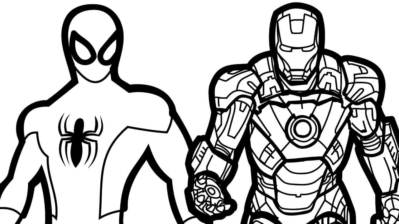 Disegni Da Colorare Con Iron Man.Disegni Da Colorare Iron Man Stampa Supereroe Gratis