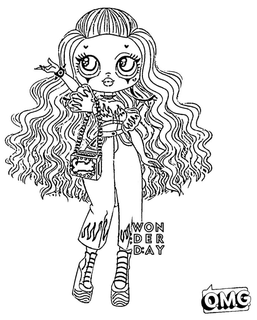 Coloring pages LOL OMG. Download or print for free