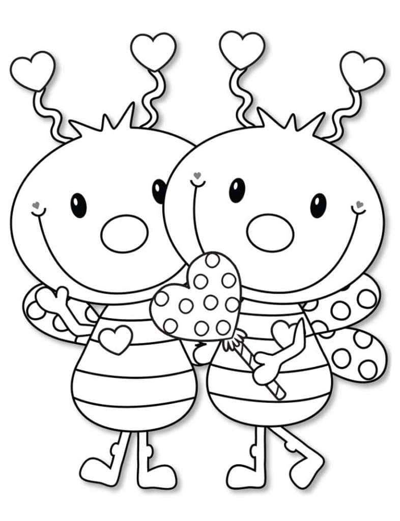 Coloring Pages Love. 100 Free beautiful Images