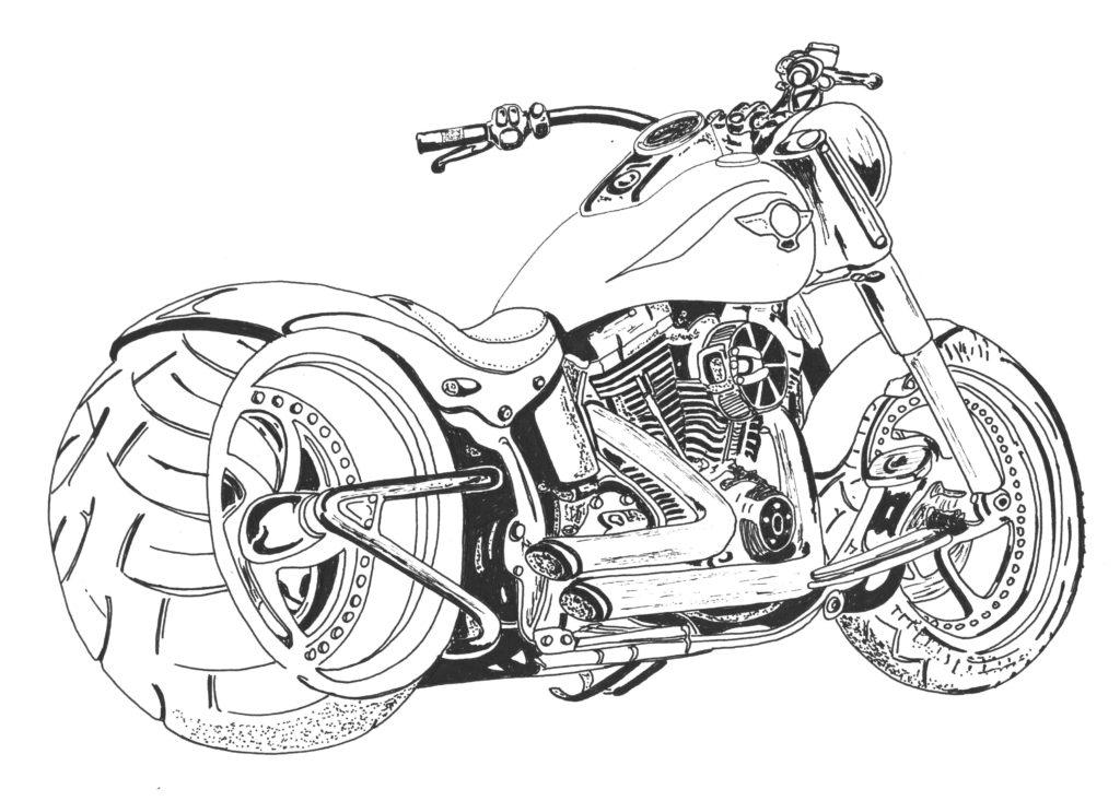 Раскраски Мотоциклы для мальчиков. Крутые и современные