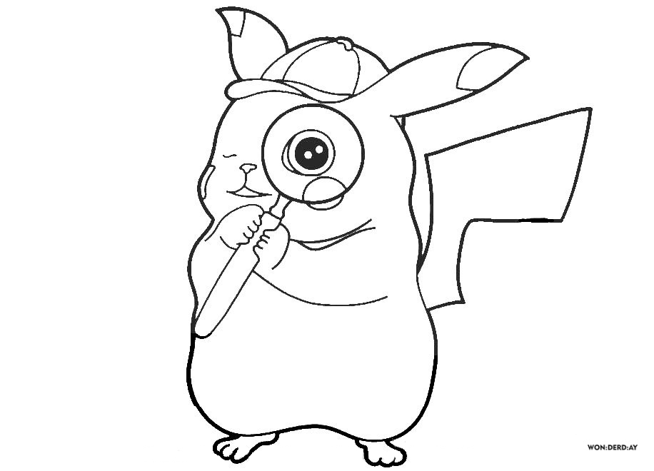 Dibujos de Pikachu para colorear. Imprima gratis A4
