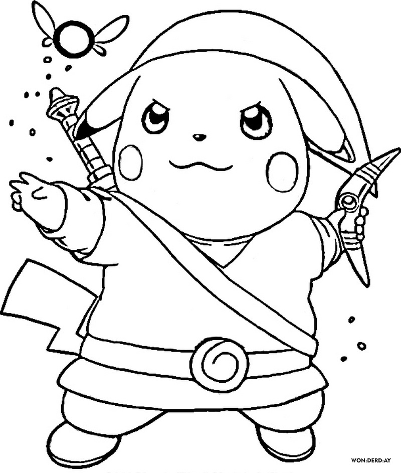 Pikachu Coloring Pages. Print for free in A4 format