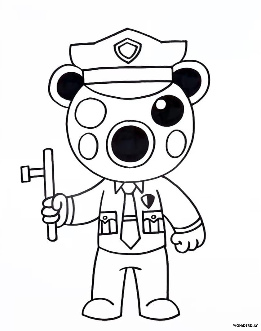 Disegni da Colorare Roblox. Piggy, Doggy e altri. Stampa ...