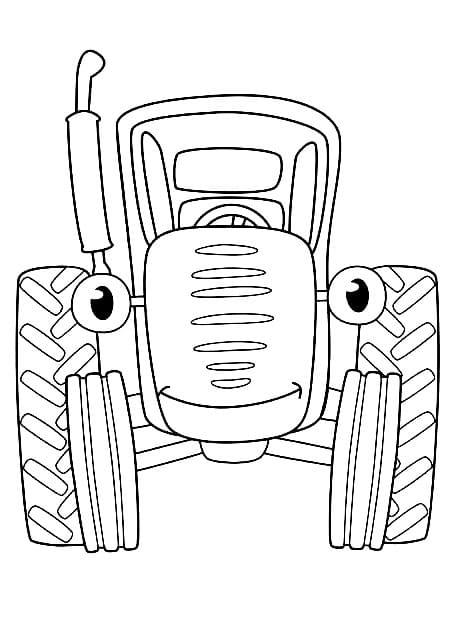 Раскраски Синий Трактор из мультфильма для малышей