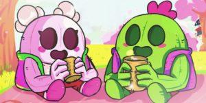 Desenhos de Spike e Spike Sakura para colorir Brawl Stars